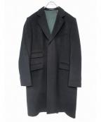 HACKETT(ハケット)の古着「カシミヤウールコート」 ブラック
