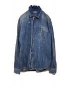 MCQ(マックキュ)の古着「デニムシャツジャケット」|ブルー
