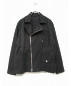 BRU NA BOINNE(ブルーナボイン)の古着「20S/Sピンケットライダース」|ブラック