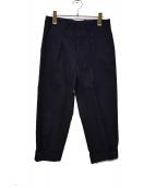 MARNI(マルニ)の古着「裾ボタンワイドトラウザーパンツ」|ネイビー