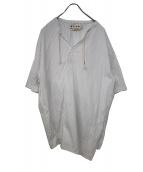 MARNI(マルニ)の古着「19S/SコットンストライプアシメントリースキッパーSSシャ」|ホワイト×ブルー
