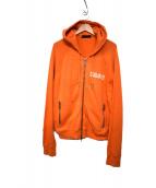 DSQUARED2(ディースクエアード)の古着「ジップパーカー」|オレンジ