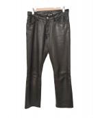 agnes b homme(アニエスベーオム)の古着「レザーパンツ」|ブラック