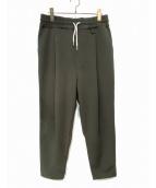 DROLE DE MONSIEUR(ドロール ド ムッシュ)の古着「SOFT CROPPED CARROT PANTS」|オリーブ
