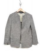 YS(ワイズ)の古着「ノーカラーウールジャケット」 ライトグレー