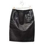 MUVEIL Work(ミュベールワーク)の古着「タイトスカート」 ブラック