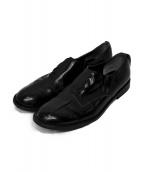 tricot COMME des GARCONS(トリコ コムデギャルソン)の古着「レザーシューズ」 ブラック