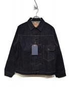 PHERROWS(フェローズ)の古着「バッファローホーンステッチデニムジャケット」|インディゴ
