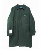 GLAMB(グラム)の古着「ステンカラーコート」 グリーン