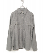 PHERROWS(フェローズ)の古着「ダブルフラップワークシャツ」|グレー