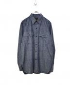 BLACK SIGN(ブラックサイン)の古着「ダブルフラップワークシャツ」|インディゴ
