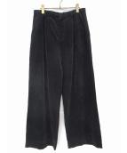 AURALEE(オーラリー)の古着「タックワイドコーデュロイパンツ」|ブラック