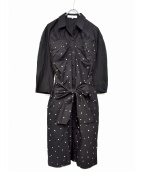 AKIRA NAKA(アキラ ナカ)の古着「ドットドレスワンピース」|ブラック