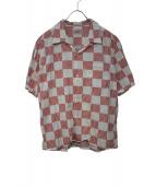 TENDERLOIN(テンダーロイン)の古着「半袖シャツ」 ホワイト×レッド