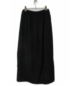 BISHOOL(ビシュール)の古着「wool gabardine unisex skirt」|ブラック