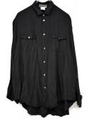 YOHJI YAMAMOTO(ヤマモトヨウジ)の古着「90'Sオープンカラーシャツ」|ブラック