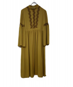 Lois CRAYON(ロイスクレヨン)の古着「半袖ワンピース」|オリーブ