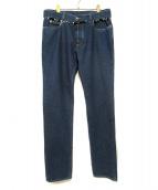 Maison Martin Margiela10(メゾンマルタンマルジェラ10)の古着「18S/Sベルテッドカットアウトデニムパンツ」|インディゴ