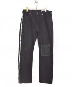ATELIER&REPAIRS(アトリエ&リペアーズ)の古着「501リメイクデニムパンツ」|ブラック