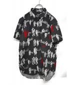 BLACK COMME des GARCONS(ブラックコムデギャルソン)の古着「S/S総柄シャツ」 ブラック