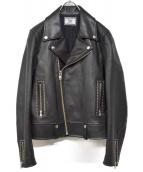 Rags McGREGOR(ラグスマックレガー)の古着「スタッズライダースジャケット」 ブラック