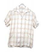 WACKO MARIA(ワコマリア)の古着「オープンカラーシャツ」 ホワイト×ベージュ