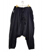 YOHJI YAMAMOTO(ヤマモトヨウジ)の古着「切替サルエルパンツ」|ブラック