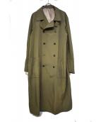 MIHARA YASUHIRO(ミハラヤスヒロ)の古着「Nylon Duster Coat」|カーキ