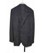YohjiYamamoto pour homme(ヨウジヤマモトプールオム)の古着「ウールギャバジンロングテーラードジャケット」 ブラック