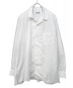 syte(サイト)の古着「100/2 Broad Open Collar Shirt」 ホワイト