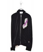 MIHARA YASUHIRO(ミハラヤスヒロ)の古着「Velor Track Jacket」|ブラック