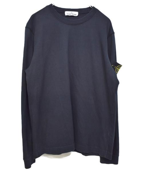 STONE ISLAND(|ストーンアイランド)STONE ISLAND (ストーンアイランド) CREW NECK SWEAT SHIRT ブラック サイズ:Mの古着・服飾アイテム
