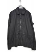 STONE ISLAND(ストーンアイランド)の古着「製品染めオーバーシャツブルゾン」|ブラック