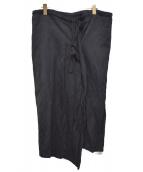Ys(ワイズ)の古着「スリット紐スカート」|ブラック