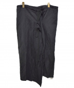 Ys()の古着「スリット紐スカート」|ブラック