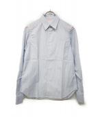COMME des GARCONS SHIRT(コムデギャルソンシャツ)の古着「ドッキングアームストライプシャツ」|ブルー×ホワイト