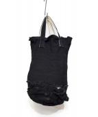 tricot COMME des GARCONS(トリコ コムデギャルソン)の古着「リメイクキャンバスハンドバッグ」|ブラック