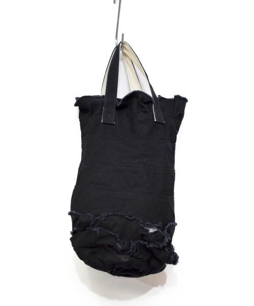 tricot COMME des GARCONS(トリココムデギャルソン)tricot COMME des GARCONS (トリコ コムデギャルソン) リメイクキャンバスハンドバッグ ブラックの古着・服飾アイテム