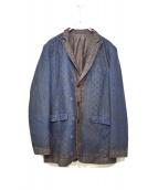 UNDERCOVERISM(アンダーカバイズム)の古着「転写テーラードジャケット」|ネイビー×ブラック