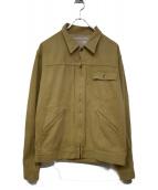 PHERROWS(フェローズ)の古着「ジップアップジャケット」|ベージュ