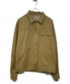 PHERROWS()の古着「ジップアップジャケット」|ベージュ