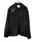 yoshio kubo(ヨシオクボ)の古着「スラッシュシャツジャケット」|ブラック