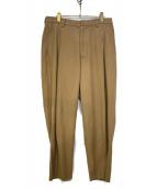 URU(ウル)の古着「COTTON RAYON 1 TUCK PANTS」|ベージュ