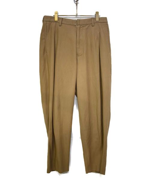 URU(ウル)URU (ウル) COTTON RAYON 1 TUCK PANTS ベージュ サイズ:2の古着・服飾アイテム