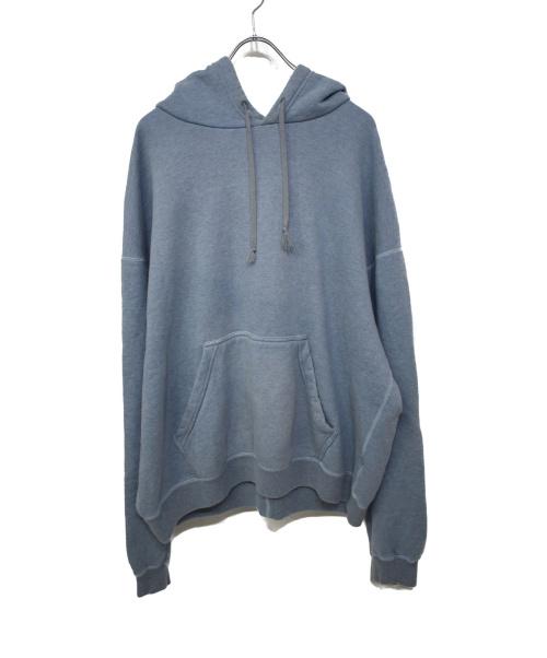 URU(ウル)URU (ウル) HOODED SWEAT サックスブルー サイズ:2の古着・服飾アイテム