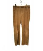 URU(ウル)の古着「belted corduroy patns」|ベージュ