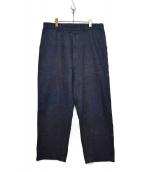 Sans limite(サンリミット)の古着「デニムトラウザーパンツ」|インディゴ