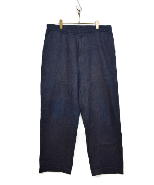 sans limite(サンリミット)Sans limite (サンリミット) デニムトラウザーパンツ インディゴ サイズ:Mの古着・服飾アイテム