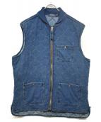 POLO RALPH LAUREN(ポロラルフローレン)の古着「インディゴキルティングベスト」|インディゴ