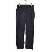 FIRMUM(フィルマム)の古着「クールマックスストレッチツイルイージーパンツ」|ネイビー